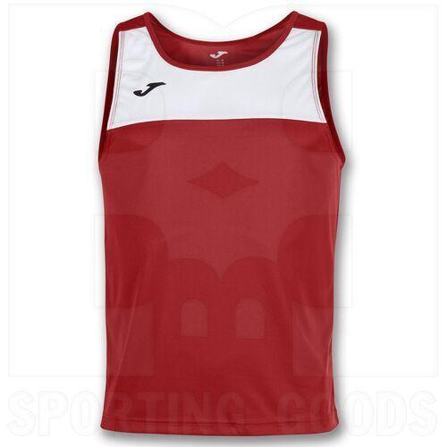 101033.602 Joma Camiseta sin Mangas Race Blanca / Rojo