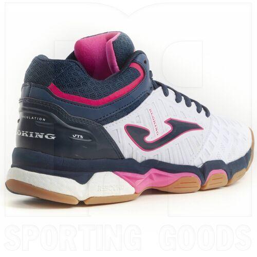 V.BLOKLS-902-6 Joma Calzado de Cancha V.Blok para Mujer Blanco/Azul Marino/Rosa