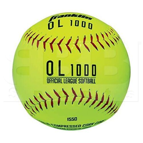 1550 Franklin OL1000 Official League Softball Syntex Synthetic Cover w/ Solid Cork Core 12""
