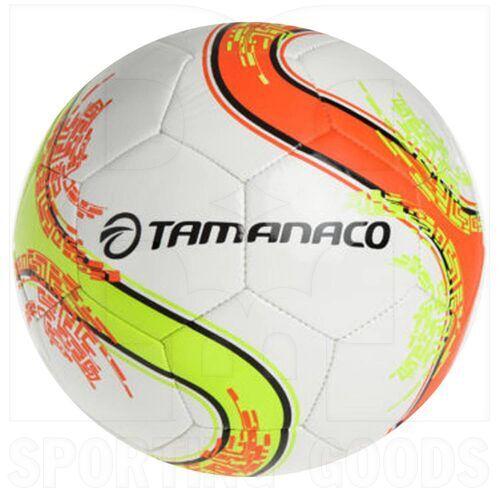 TF64CAI Tamanaco Caiman Soccer Futsal Ball Machine Stitched Size 4 White/Neon Yellow/Neon Orange