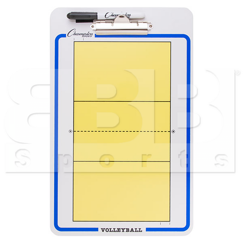 CBVB Champion Dry Erase 2 Sided Volleyball Coaching Board With Marker
