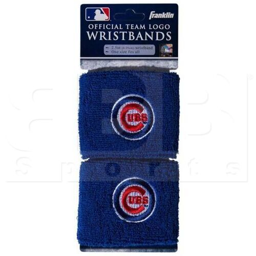 "2735F16P6 Franklin MLB Chicago Cubs 2.5"" Wristband"