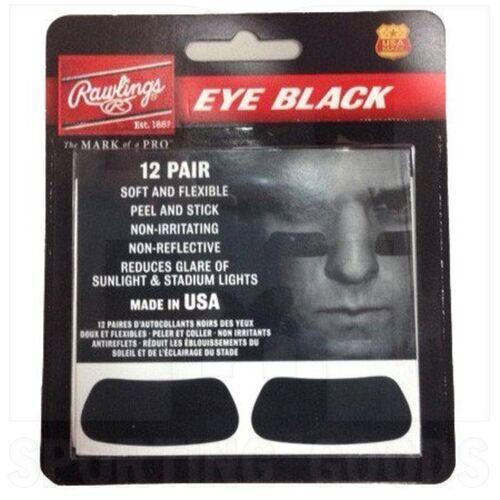 EB12 Rawlings Eye Black Adhesive Stickers 12 Pair