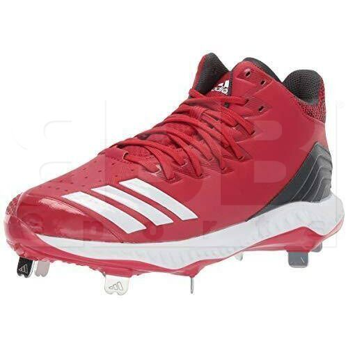 CG5178 Adidas Icon Zapatillas de Metal para Beisbol Metal Cleats Rojo / Blanco
