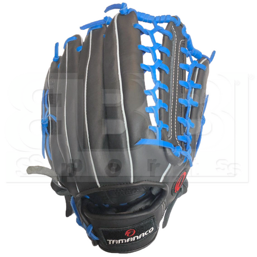 """ST1302-BKR Tamanaco ST-Series Natural Leather Outfield Glove 13"""" Black/Royal RHT"""