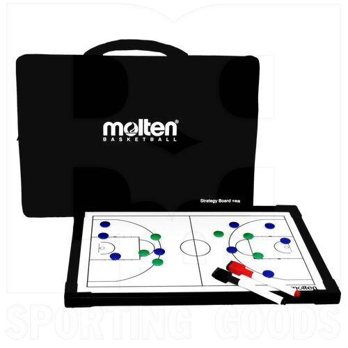 BSB Molten Tablero Entrenador de Baloncesto para Estrategia Negro