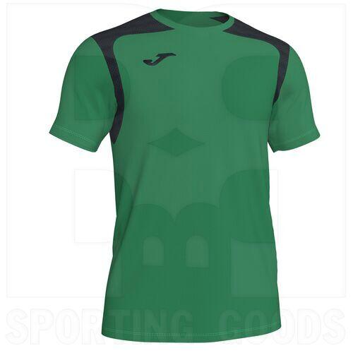 101264.451 Joma Championship V Short Sleeve Shirt Green/Black