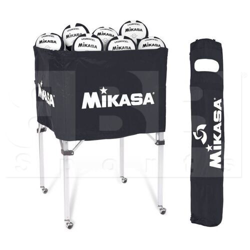 "BCSP-BK  Mikasa Carro Plegable para Almacenamiento de Bolas 25"" x 25"" x 40"""