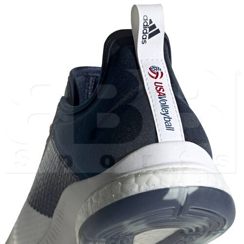 D97836 Adidas Crazyflight X 3 USA Volleyball Women's Shoes Cloud White/Collegiate Navy/ Power Red