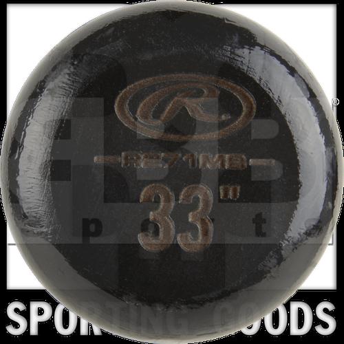 "R271MB-33 Rawlings Bate de Beisbol Velo Adirondack Hard Arce Wood 271 Profile con Mango de 15/16 "" Negro / Natural"