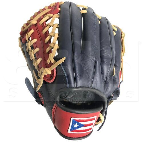 "ST1172-FPRNS-RH Tamanaco ST-Series Puerto Rico Edition Natural Leather Infield/Pitcher Glove 11.75"" Navy/Scarlet LHT"