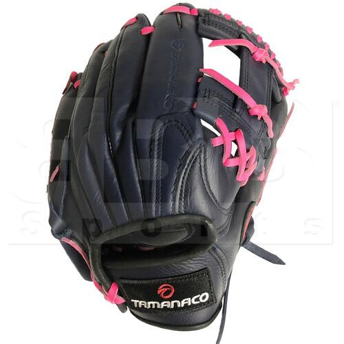 """ST1202-NP Tamanaco ST-Series Natural Leather Infield/Outfield Glove 12"""" Navy/Pink RHT"""
