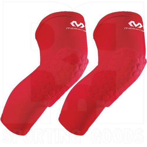 6446R-SC McDavid Hexpad Kneepad Sleeve Leg Protector Pair Scarlet