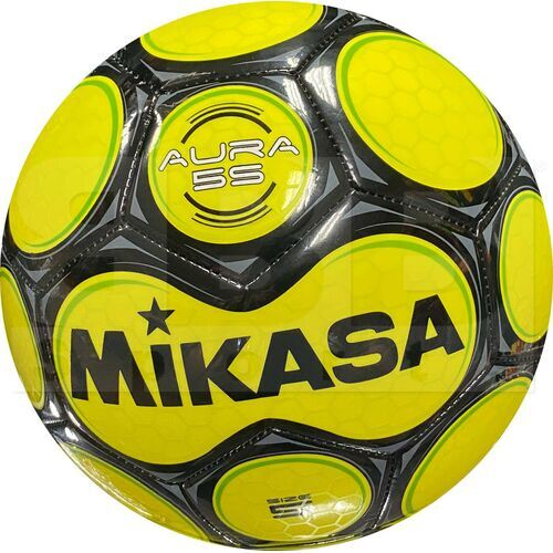 SAR5-YE Mikasa Leather Soccer Ball Size 5 Yellow/Green