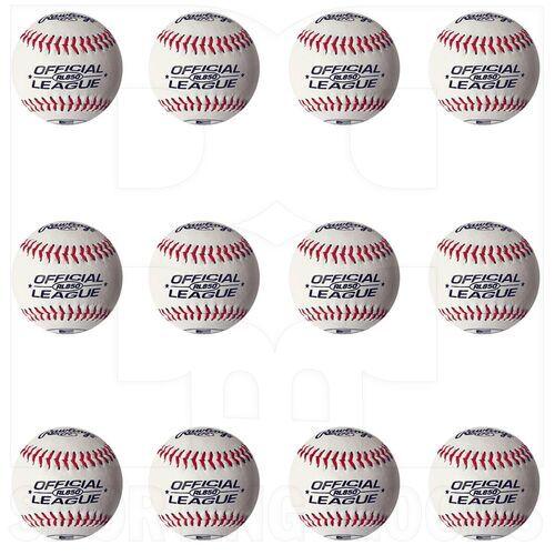 """RL850 Rawlings Docena de Bolas de Béisbol Oficial Centro de Corcho Sólido de Tamaño Reducido de la Liga con Costuras Elevadas  8.5 """""""