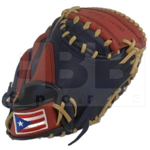 "STCM-FPRNS Tamanaco Catcher's Mitt Puerto Rico Edition Leather 33.5"" Navy/Scarlet RHT"