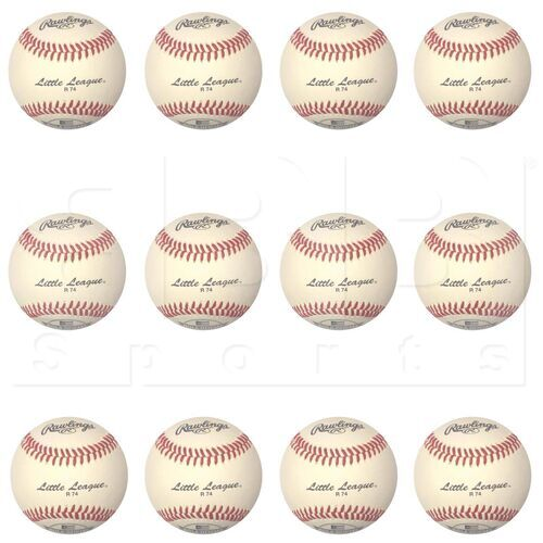 "R74 Rawlings Docena de Bolas Liga Pequeña de Béisbol 9 """