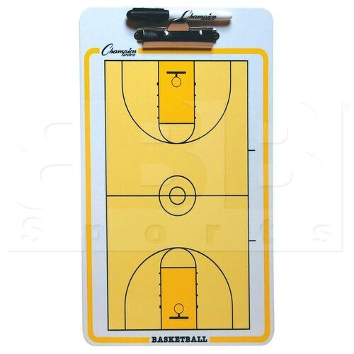 CBBK Champion Basketball Full Court Coaches Clipboard Yellow