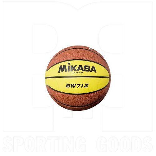"BW712 Mikasa Syntethic Leather Basketball Ball Size 7 (29.5"")"