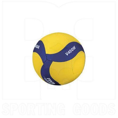 V450W Mikasa Bola de Voleibol V450W Cuero Sintético FIVB Tamaño 4