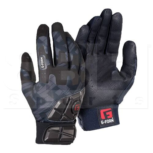 GB010234 G-Form Adult Pro Batter's Padded Batting Glove Black/Grey