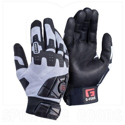 GB010235 G-Form Guantillas de Bateo Acolchada Pro Batter para Adultos Blanco / Gris