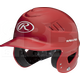 "RCFH-SC Rawlings Coolflo Molded Baseball Batting Helmet 6 ½"" – 7 ½"" Scarlet"